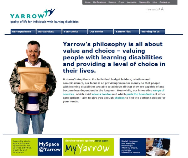 Yarrow Housing website